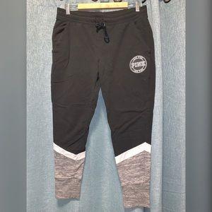 Victoria Secret PINK Black Sweatpants size L